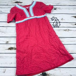 Lilly Pulitzer Dress Girls 12 Eyelet Lined Pink
